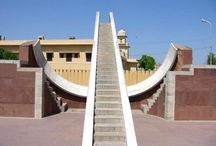 Jantar Mantar / The Jantar Mantar monument of Jaipur, Rajasthan is a collection of nineteen architectural astronomical instruments, built by the Rajput king Sawai Jai Singh, and completed in 1738 CE. It features the world's largest stone sundial, and is a UNESCO World Heritage site. Located near City Palace and Hawa Mahal of Jaipur