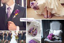 Mariage parme gris violet blanc