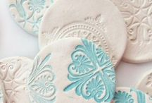 Clay stamped cookies