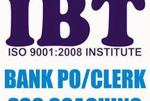 Bank Coaching, SSC Coaching, Bank PO Coaching, CAT exams coaching / IBT India provides best coaching for SBI, PO and bank Clerk.You can also find bank SBI online test series,PO online mock test series to prepare better for your exams.for more info call on  9463612090.