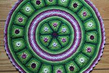 Crocheted Circle Afgans