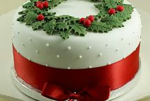 Christmas Cake Decoration / Ways to decorate a Christmas cake - most of them pretty simple!