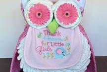Owl daiper cake