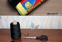 вязание из пакетов для мусора