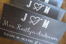 Wedding Place Cards / A collection of chic, trendy and stylish wedding place cards / escort cards / guest seating cards.