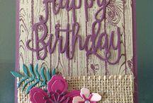 Happy Birthday Thinlits/Gorgeous Stampin Up