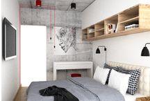 małe mieszkanie / #nowoczesnewnętrze #drewnowewnętrzu małe nowoczesne mieszkanie, jasne wnętrze, akcenty: drewno, beton, czerń i biel