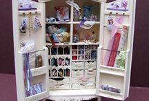 Dollhouse-Miniatures-Ladies Cabinet