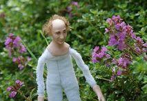 Vaari / 1:12 Porcelain doll by Taru Astikainen