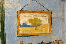 """Parodies and Copies - Pascal Decaux / """"La Chambre de Vincent à Arles - UFO"""" 70 x 90 cm peinture à l'huile sur toile - Pascal Decaux 2014  #painting    #copie"""