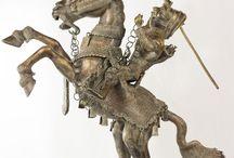 Benin Cast Bronze Horse