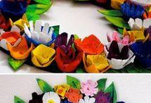hueveras de flores