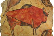 """Prehistoric Cave Paintings / Altamire Bison Replica Panel Size: 48"""" x 48"""" 