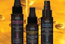 RPR Intelligent Oils for Smoother, Shinier, Frizz-Free Hair / RPR trio of professional salon oils to treat and finish hair.