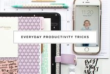productivity / productivity tips, how to stop procrastinating and be productive. daily productivity tips and tricks, how to get things done. motivation and inspiration to help you be more productive.