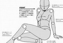 anime girl poses base