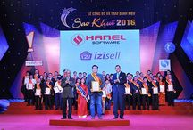 """HanelSoft - iZiSell achieved 2016 Sao Khue award / """"iZiSell's inventors aim to develop the powerful economy and bring lots of benefits to both Vietnamese enterprises and customers. iZiSell is also the first software solution of HANEL achieved this prestigious award, which makes the contribution to identify HANEL's position and development orientation in the IT field."""""""
