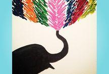 Crayon art!