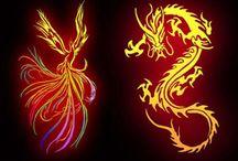 dragons & phoenixes