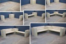 Steigerhouten loungebanken / Steigerhouten banken en lounge banken gemaakt van gebruikt of nieuw steigerhout.