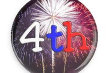Fourth of July Buttons / Funny Buttons - Custom Buttons - Promotional Badges - Fourth of July Pins - Wacky Buttons