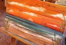Pallet Art / Sunset pallet art