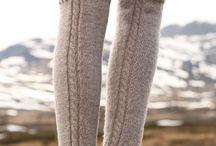 Вязаные гетры и носки