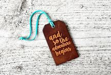 Rustic Wedding Favors / Leather Luggage Tag Wedding Favors and more!