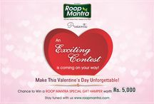 Roop Mantra Selfie Contest / Make This Valentine's Day Unforgettable! & Chance to Win a ROOP MANTRA SPECIAL GIFT HAMPER worth Rs. 5,000 Stay tuned with us www.roopmantra.com