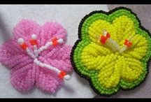 Beads embroidery