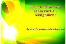SOC 100 Midterm Exam Part 1 Assignment