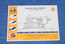 Blocks de Dibujo y Pintura / Papel y loneta para artistas y estudiantes