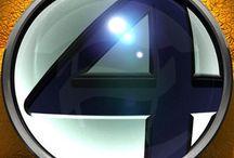Comic art 26=Fantastic 4-The Thing (Ben Grimm)-She-Thing (Sharon Ventura )-Moondragon-Thundra / Impossible man-Mole man