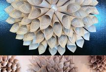 Book folding wreath