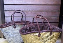 Summer Beach/Shopping Basket in Gold or Silver