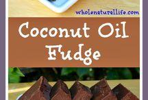 Coconutoil fudge