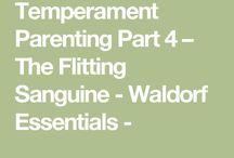 Waldorf Education Temperaments