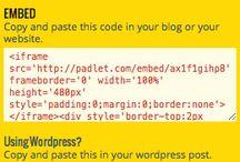 Padlet uses / Ideas for padlet