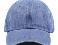 Denim Blue Washed Cotton baseball cap
