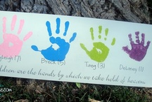Handprint Crafts / by Amanda Morgan