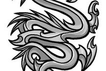 Drawings of Dragons tattoo designs