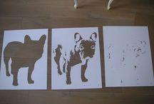 Creating stencil artand spray paint stencils