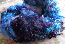 Hand Spun Art Yarns / I enjoy spinning a variety of art yarns using different methods. Most of the fibers I use are from my own angora goats  or sourced locally from farmers around the state of Michigan