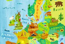The world in illustrated maps