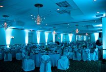 teal uplighting / teal uplighting for weddings and events inspiration / by Superlative Events