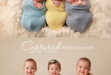 TRIPLET NEWBORN PHOTO IDEAS / Celebrate your triplets birth!!!  Check out these pins for some inspiration for your super cute triplet photos.