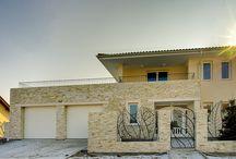 Fasády z kamene - Rezidenční vila Mařatice / Obklad fasády přírodním kamenem model Nadia. www.exclusivestone.cz