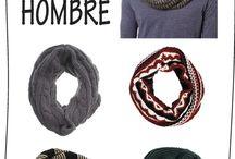 bufandas  y cuellos para hombres