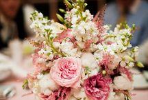 Cake Plate & Cake Flowers