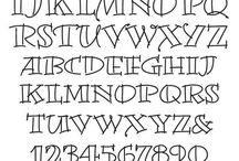 шрифты и трафареты